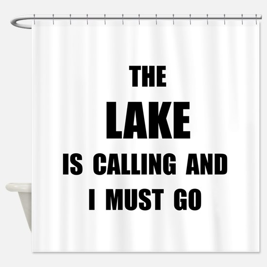 Lake Calling Shower Curtain