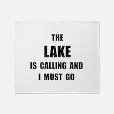 Lake Calling Throw Blanket