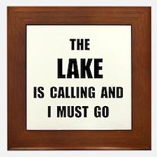 Lake Calling Framed Tile