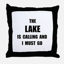 Lake Calling Throw Pillow