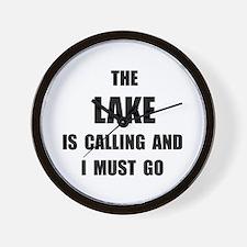 Lake Calling Wall Clock