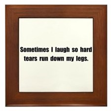 Laugh Tears Framed Tile