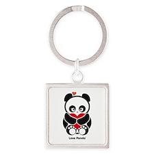 Love Panda® Square Keychain