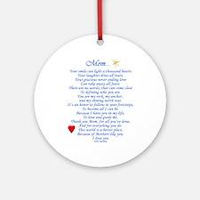 Mom... Ornament (Round)