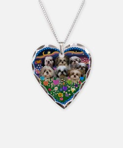 Funny Dog breed Necklace Heart Charm