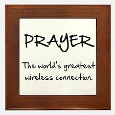 Prayer Wireless Framed Tile