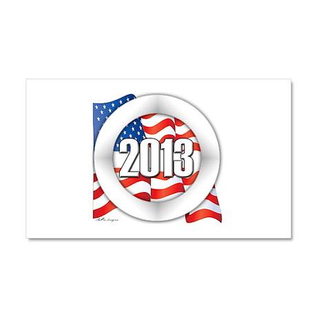 2013 Round Logo Car Magnet 20 x 12