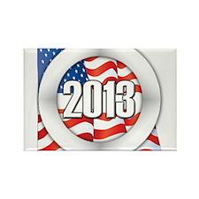 2013 Round Logo Rectangle Magnet