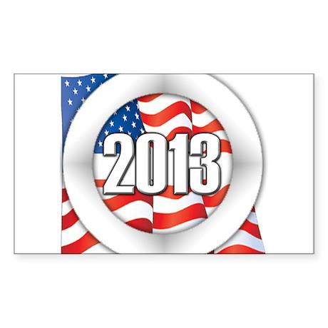 2013 Round Logo Sticker (Rectangle)