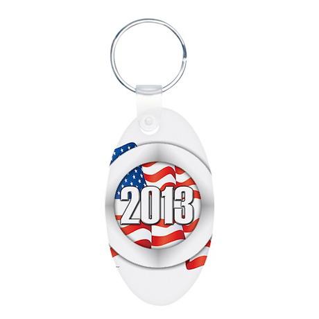2013 Round Logo Aluminum Oval Keychain