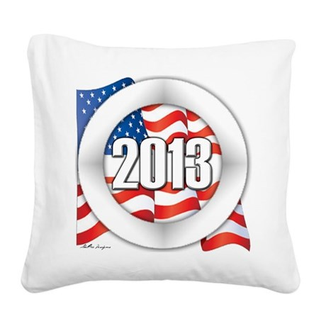 2013 Round Logo Square Canvas Pillow