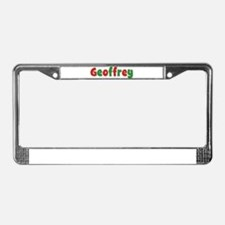 Geoffrey Christmas License Plate Frame