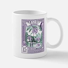 1950 Ceylon Vesak Orchid Postage Stamp Mug