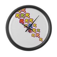 Colorful Arrows Large Wall Clock