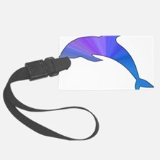 Colorful Dolphin Luggage Tag