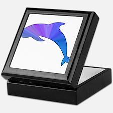 Colorful Dolphin Keepsake Box