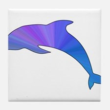 Colorful Dolphin Tile Coaster