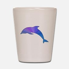 Colorful Dolphin Shot Glass