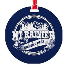Mt. Rainier Old Circle Round Ornament