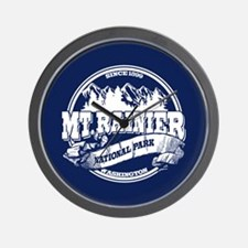 Mt. Rainier Old Circle Wall Clock