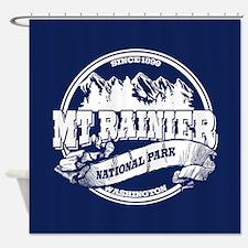 Mt. Rainier Old Circle Shower Curtain