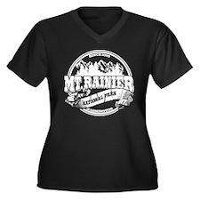 Mt. Rainier Old Circle Women's Plus Size V-Neck Da