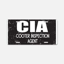 CIA: Cooter Inspection Agent Aluminum License Plat