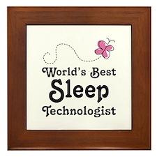 Sleep Technologist Framed Tile