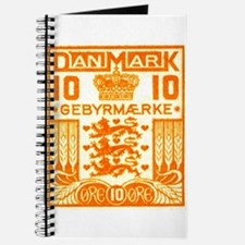 1934 Denmark National Coat of Arms Stamp Journal