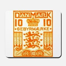 1934 Denmark National Coat of Arms Stamp Mousepad