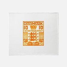 1934 Denmark National Coat of Arms Stamp Stadium
