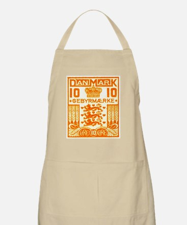 1934 Denmark National Coat of Arms Stamp Apron