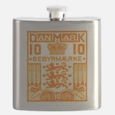 1934 Denmark National Coat of Arms Stamp Flask