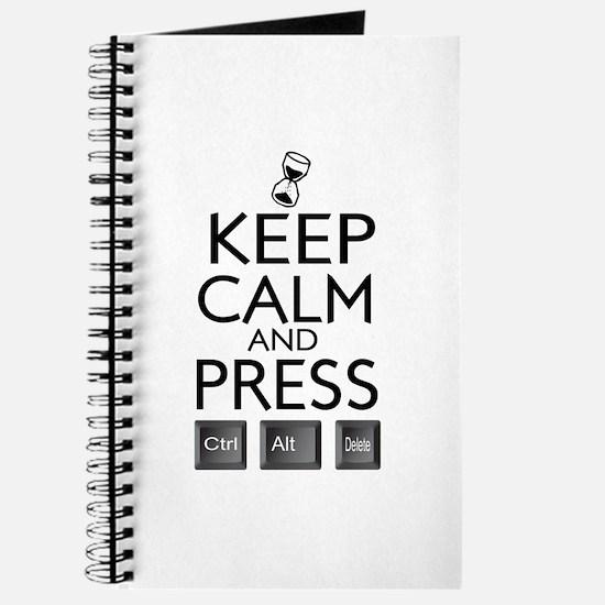 Keep calm Funny IT computer geek humor Journal