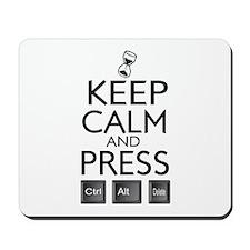 Keep calm Funny IT computer geek humor Mousepad