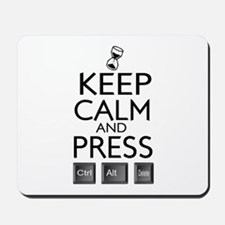 Keep calm Funny IT computer geek humor Mousepad