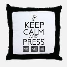 Keep calm Funny IT computer geek humor Throw Pillo