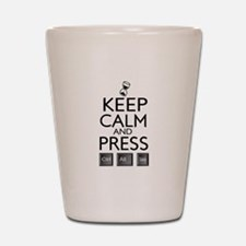 Keep calm Funny IT computer geek humor Shot Glass