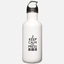 Keep calm Funny IT computer geek humor Sports Water Bottle