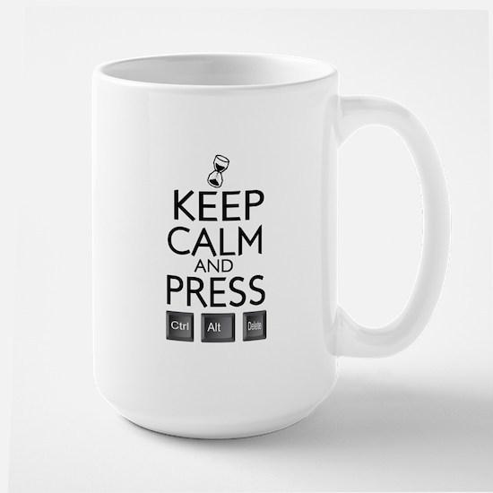 Keep calm Funny IT computer geek humor Large Mug