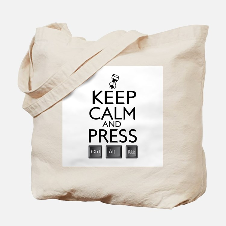 Keep calm Funny IT computer geek humor Tote Bag