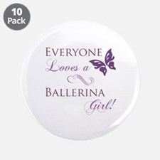 "Ballerina Girl 3.5"" Button (10 pack)"