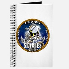 USN Navy Seabees Roped Blue Glow Journal