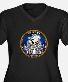 USN Navy Seabees Roped Blue Glow Women's Plus Size