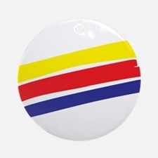 Colorful Paint Ornament (Round)