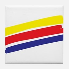 Colorful Paint Tile Coaster