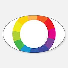 Color Wheel Sticker (Oval)
