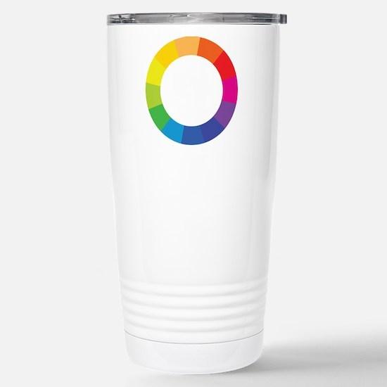 Color Wheel Stainless Steel Travel Mug