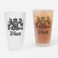 Cute Wilson coat of arms Drinking Glass