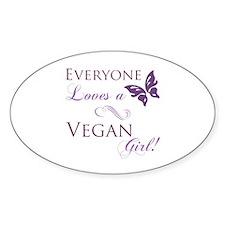 Vegan Girl Decal